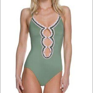 143dfa3242229 Women Becca Crochet One Piece Swimsuit on Poshmark